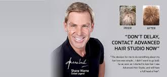 shane warne hair transplant hair loss treatment restoration cure advanced hair studio