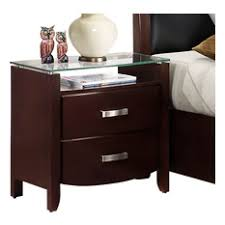 mirrored nightstand houzz