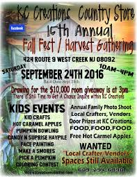 vendors needed for fall fest harvest gathering forked river
