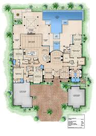 dream house plan european 4 beds 4 75 baths 8665 sq ft plan 27 455 main floor plan