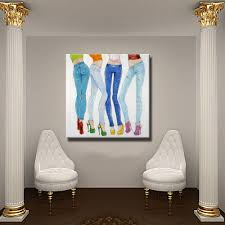 wholesale for sale fashion model painting wall art home decoration