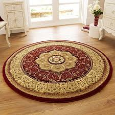 Heritage Unlimited Rugs Think Rugs Heritage 4400 Traditional Hand Carved Round Rug Red