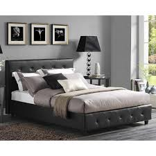 Black Platform Bed Queen Dhp Dakota Upholstered Platform Bed Hayneedle