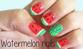 watermelon nails youtube
