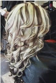blonde hair with chunky highlights chunky highlights and curls chunky streaks lowlights 4