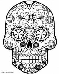 sugar skull abstract doodle zentangle coloring pages colouring