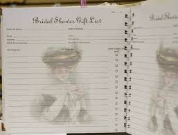 bridal gift record book baby shower gift record book quicksoluction