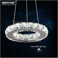 Circular Crystal Chandelier Aliexpress Buy Modern Led Ring Lamp Light Fixture Crytsal Ideas 19