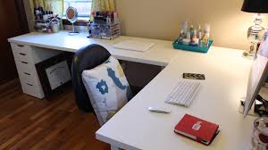 Long Gaming Desk by Ikea Desks U0026 Office Makeover Youtube