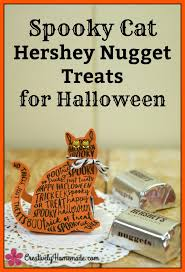 spooky cat hershey nuggets easy halloween treats for kids
