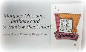 it u0027s your birthday card with window sheet insert using marquess