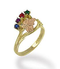 black gold mothers ring black gold mothers ring with birthstones black gold