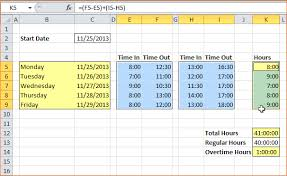 4 How To Make A Timesheet In Excel Timeline Template