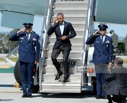 2012 Presidential Election Map Newhairstylesformen2014 Com by President Obama Arrives In Air Force One At Lax Photos And Images