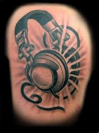 headphones of music tattoo designs tattoo design ideas