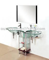 Bathroom Vanity Manufacturers by Modern Glass Vanity Sinks Bathroom Glass Bathroom Vanities