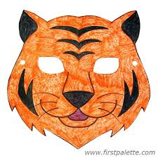 lion mask craft cardboard animal mask template