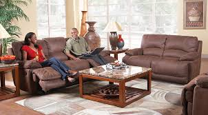 cindy crawford recliner sofa cindy crawford home van buren brown 5 pc living room with reclining