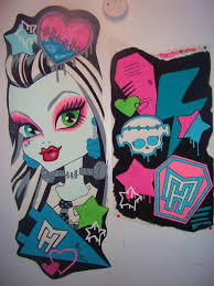 monster high doll wallpaper art sricker mural handmade roo u2026 flickr