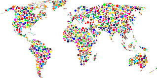 Worl Map Clipart Colorful Circles World Map
