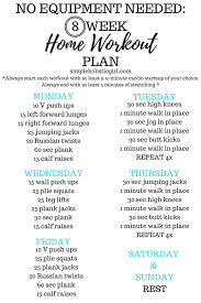 at home workout plans for women 8 week home workout plan