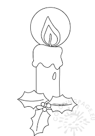 candle coloring pages for christmas coloring page