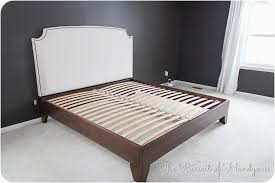 Enchanting Headboard King Bed Ana White Cassidy Bed King Diy by Epic Wood Panel Headboard Diy 70 On King Size Headboard With Wood