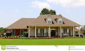 beautiful two story ranch style home stock photo image 42124914