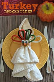 here s a way to make turkey napkin rings for the table