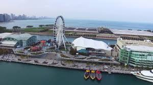 Navy Pier Map Aerial Video Of Chicago Navy Pier Youtube
