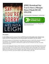 Seeking Book Pdf Pdf Say You Re Sorry Dane Ebook Read By