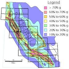 earthquake hazard map california geological survey probabilistic seismic hazards map