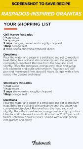 raspados inspired granitas recipe tastemade