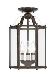 Semi Flush Pendant Lighting 5231 782 Three Light Semi Flush Convertible Pendant Heirloom Bronze