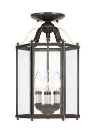 Sea Gull Lighting Fixtures 5231 782 Three Light Semi Flush Convertible Pendant Heirloom Bronze