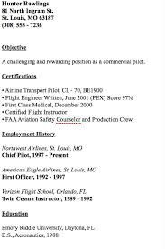Crew Chief Resume Example Of Chief Pilot Resume Http Resumesdesign Com Example
