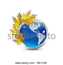 vector autumn earth globe seasonal concepts stock vector