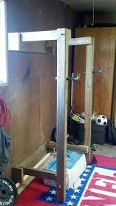 squat rack squat homemade and walls