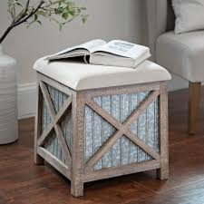 Seagrass Storage Ottoman Ottomans Benches Storage Benches Kirklands