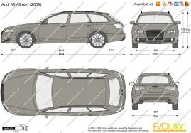 dimension audi a6 the blueprints com vector drawing audi a6 allroad
