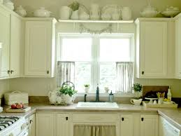 kitchen bay window curtain ideas dining table the middle room interior red kitchen curtain ideas beige floral dining chair along seamless granite countertops grey metal plate