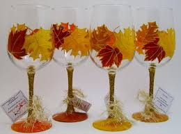fall leaves thanksgiving wine glass sipping sensations
