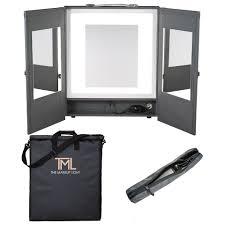 portable makeup vanity with lights portable vanity carry bag kit graphite the makeup light