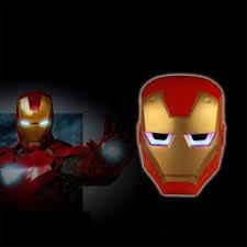 Led Light Halloween Costume Cool Iron Man Led Light Eyes Mask Halloween Costume Party