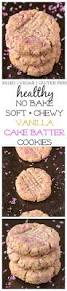 no bake vanilla cake batter breakfast cookies