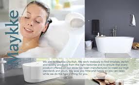 Maykke Maykke Dewey 59 Inches Modern Oval Light Acrylic Bathtub Easy To