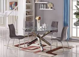 large round dining table vogue large round chrome glass dining table furniturebox