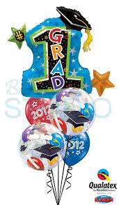 graduation star bouquet 3 balloons vancouver jc balloon studio