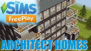 sims freeplay architect homes tour may 2017 youtube