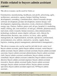 Fashion Buyer Resume Examples by Top 8 Buyers Admin Assistant Resume Samples